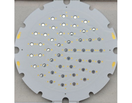 White metal core circuit board round aluminum led pcb